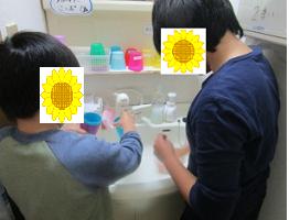 ななみコップ洗い1